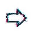 glitch distortion frame arrow vector image vector image