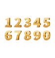 gold 3d numbers big golden number luxury vector image vector image