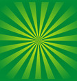 green rays retro background with halftones stylish vector image vector image