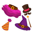 halloween costumes elements isolated garments vector image