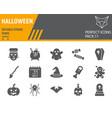 halloween glyph icon set holiday symbols vector image vector image