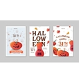 halloween party posters with pumpkins vector image