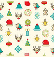 happy christmas symbols pattern vector image vector image