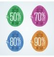 Happy Easter sale coupons vector image