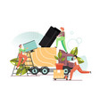 home relocation flat style design vector image vector image