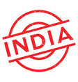 India rubber stamp vector image vector image