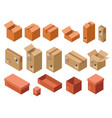 isometric shipping package cardboard box vector image