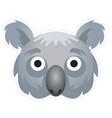 koala mask vector image vector image