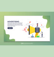 landing page template advertising marketing vector image