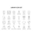 line icons set library and online library pack vector image vector image