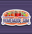 logo for homemade jam vector image vector image