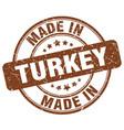 made in turkey brown grunge round stamp vector image vector image