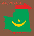 map of mauritania with flag vector image vector image