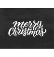 Merry Christmas hand lettering on chalkboard vector image vector image