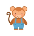 Monkey In Blue Pants With Suspenders Cute Toy Baby