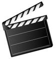 movie clapper board vector image vector image