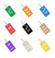multicolor label tags set isolated on white vector image