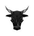 Origami black bull symbol vector image vector image