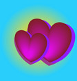 pink heart balloons in the blue sky bright colors vector image vector image