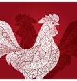 Portrait of a rooster vector image vector image