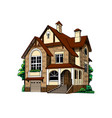 private country house cottage on white background vector image vector image