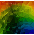 Rainbow colored triangles vector image vector image