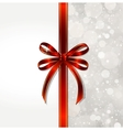 Red bow on a magical Christmas over vector image vector image