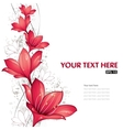 red lilies design vector image vector image