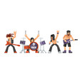 rock music or rockers band performing on stage vector image vector image