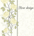 rose design card vector image vector image