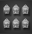 sale tag set in glass style vector image vector image