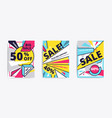sale website banner template vector image