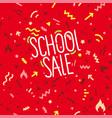 school sale banner design template vector image vector image
