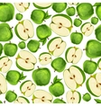 Seamless apple fruit sliced pattern vector image vector image