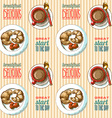 seamless pattern breakfast vector image vector image