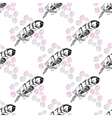 Seamless pattern with feathers and beads on white vector image vector image