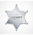 silver sheriff badge star vector image