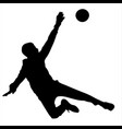 teen goalkeeper defends the goal silhouette vector image