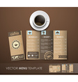 the mockup coffee menu with a cup coffee vector image