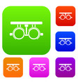 trial frame for checking patient vision set vector image vector image