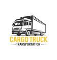 truck logo transportation monochrome style vector image vector image