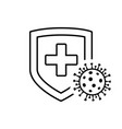 virus protection shield icon vector image