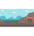 Background of entrance to the mining tunnel vector image