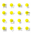 16 vintage icons vector image vector image