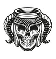 a beer skull cup vector image