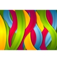 Abstract bright wavy stripes background vector image vector image
