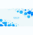 abstract white background with blue hexagonal
