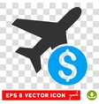Airplane Price Icon vector image vector image
