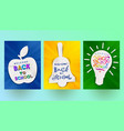 back to school - set of greeting banners vector image