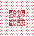 be my valentine text qr code with hearts vector image vector image